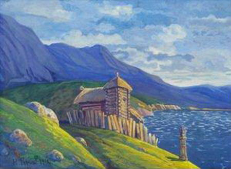 Nicholas Roerich, Hermitage at the Lake, 1912